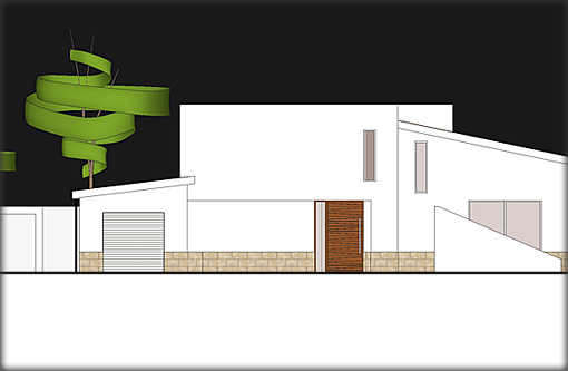 Villa Plans - Front Elevation